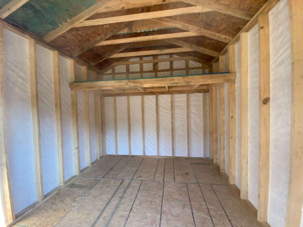 sleeping loft shed